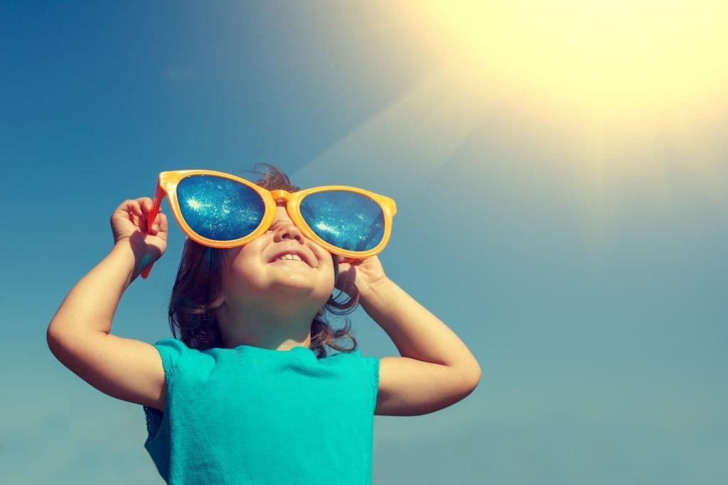 Kid in the sun